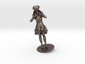 Alice Vieeland As The Hattress in Polished Bronzed Silver Steel