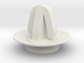 Tie Pilot Clip in White Natural Versatile Plastic