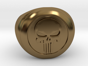 Punisher Size 7.5 in Polished Bronze