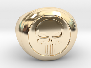 Punisher Size 7.5 in 14K Yellow Gold