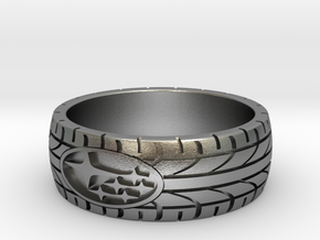 SUBARU ring size 20 mm (US 10) in Natural Silver