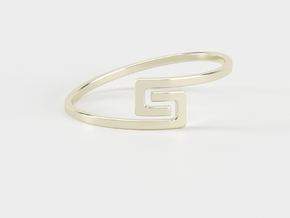 The S Ring Size 6 in 18K Gold Plated