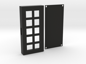 Custom 10-Key Keypad Case in Black Natural Versatile Plastic
