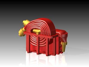 Fire Hose - Flaked & Rolled x 6 1/96 in Smooth Fine Detail Plastic