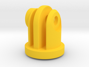 GoPro Insert for Garmin Flat Mount in Yellow Strong & Flexible Polished