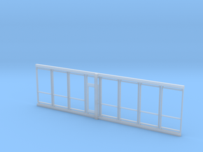 HO Storefront Doors and Windows in Smooth Fine Detail Plastic