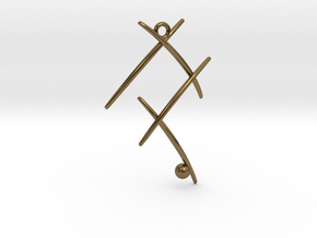Ball On Stick in Polished Bronze