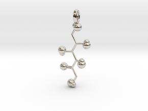 Sugar Pendant in Rhodium Plated Brass