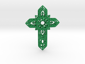 Cross  in Green Strong & Flexible Polished
