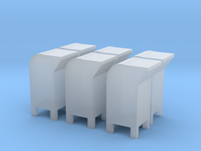 6 N-scale USPS Postal Boxes in Smooth Fine Detail Plastic