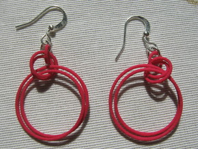 Two-Coil 1 2 Earrings in Pink Strong & Flexible Polished