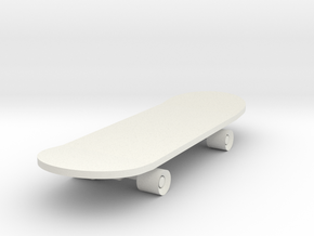 Skateboard in White Strong & Flexible