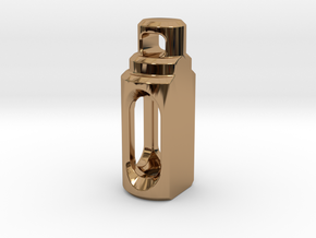 Tritium Pendant 2 (3x11mm Vials) in Polished Brass