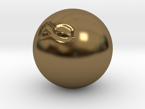 Infinite Sided Die in Polished Bronze