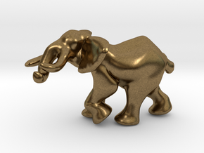 Elephant 1'' in Natural Bronze