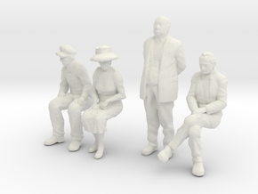 1:48 scale 4 figure pack WS in White Strong & Flexible