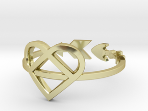 Arrow through the Heart Size 6 in 18K Gold Plated