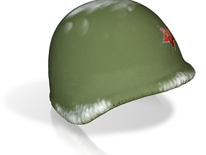 Russian Helmet with red star for lego in Full Color Sandstone