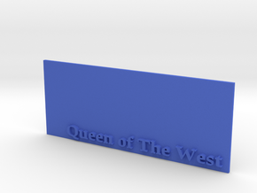 Base for 1/600 Queen Of The West in Blue Processed Versatile Plastic