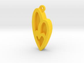 Unova Pendant [Insect] in Yellow Processed Versatile Plastic