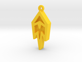 Unova Pendant [Freeze] in Yellow Processed Versatile Plastic