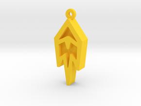 Unova Pendant [Freeze] in Yellow Strong & Flexible Polished