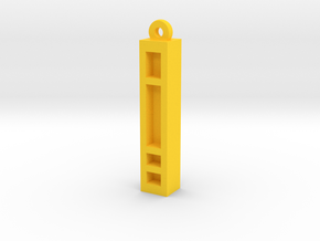 Unova Pendant [Basic] in Yellow Processed Versatile Plastic