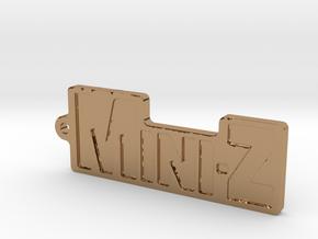 Mini-Z-Anhänger groß in Polished Brass