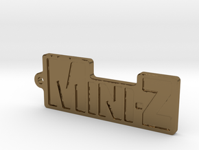Mini-Z-Anhänger groß in Polished Bronze