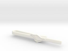Duck's Bill Tie Clip in White Processed Versatile Plastic