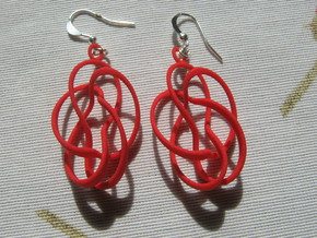 Coil Family 1 Earrings in Red Processed Versatile Plastic