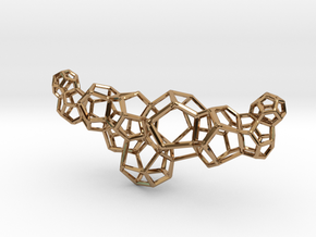 Dodeca Horizontal Piece 75mm in Polished Brass
