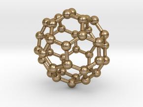 0151 Fullerene C40-39 d5d in Polished Gold Steel