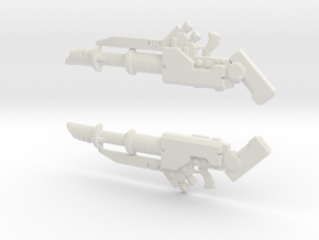 Lasscannon 28mm in White Natural Versatile Plastic