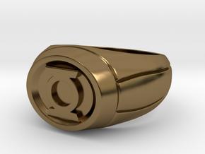 Green Lantern Ring in Polished Bronze