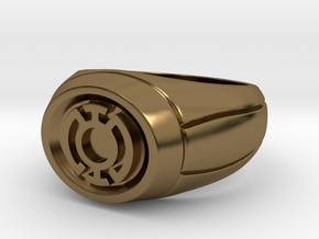 Blue Lantern Ring in Polished Bronze