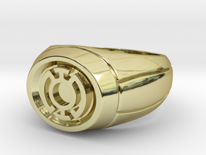Blue Lantern Ring in 18K Gold Plated
