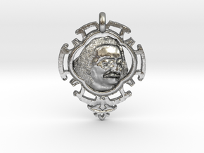 Meher Baba Amulet in Natural Silver