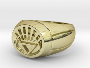 White Lantern Ring in 18K Gold Plated