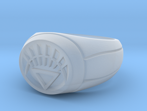 White Lantern Ring in Smooth Fine Detail Plastic