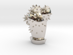 Cactus Pendant | Shut Up Cláudia! in Rhodium Plated Brass