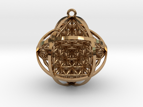 """Ball Of Life 1.5"""" Pendant  in Polished Brass"""