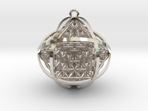 "Ball Of Life 1.5"" Pendant  in Platinum"