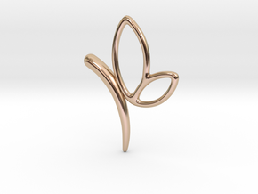 Butterfly Pendant in 14k Rose Gold Plated