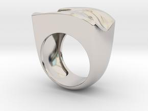 David's Eye Ring Hollow in Rhodium Plated Brass