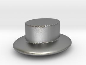 plain hat  in Raw Silver