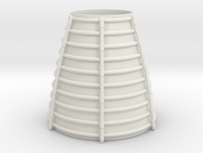 3d Shuttler Engine Cone Arc in White Strong & Flexible