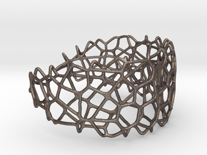 Voronoi Large Cells - for steel in Polished Bronzed Silver Steel