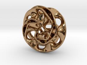 Scherk Pendant in Polished Brass