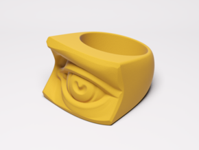 David's Eye Ring in Yellow Processed Versatile Plastic